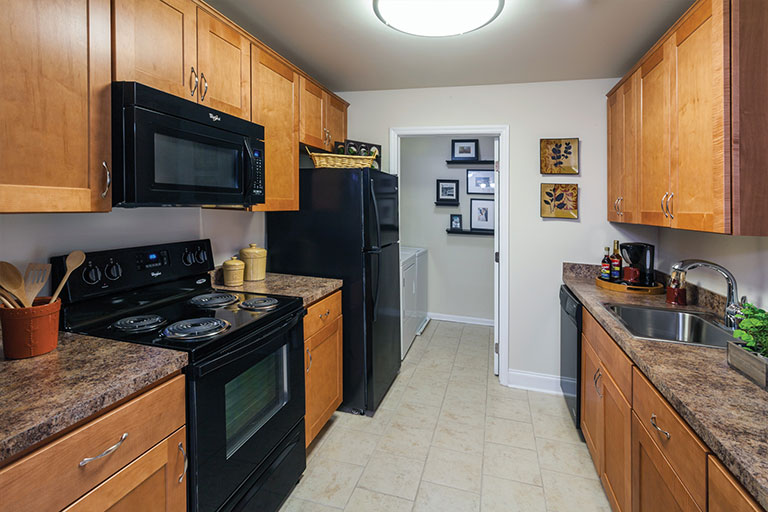Kitchen in a Royersford apartment at Walnut Crossing